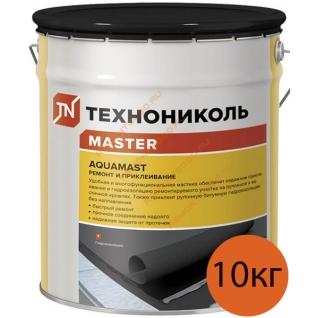 АКВАМАСТ мастика для ремонта и приклеивания (10кг) / AQUAMAST мастика битумная для ремонта и приклеивания (10кг) Технониколь