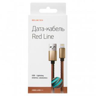 Кабель Red Line (УТ000014166)USB-8-pin для Apple, экокожа, 2м, синий