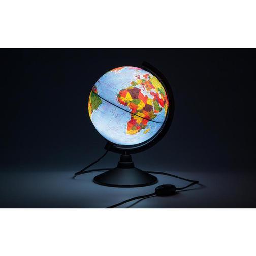 Глобус физико-политический с подсветкой рельефный,210мм 37874815 1