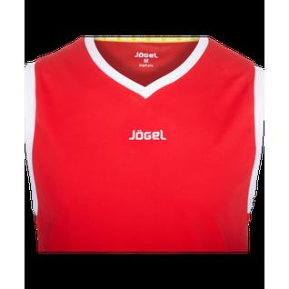 Майка баскетбольная Jögel Jbt-1020-021, красный/белый, детская размер YL