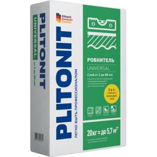 ПЛИТОНИТ Универсал наливной пол универсальный (20кг) / PLITONIT Universal ровнитель быстротвердеющий самовыравнивающийся (20кг) Плитонит