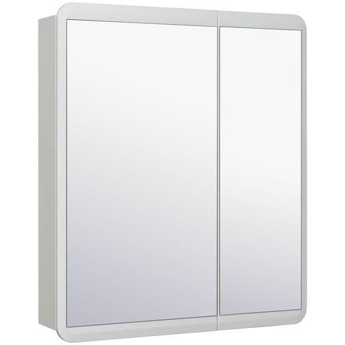 Шкаф зеркальный для ванной Runo Эрика 70 Белый 38114474
