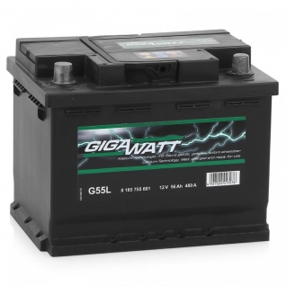 Аккумулятор GIGAWATT G55L 556 401 048 - 56Ач прямая полярность GIGAWATT G55L