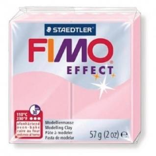 Глина полимерная пастельно-розовая,57гр,запек в печке,FIMO,effect,8020-205