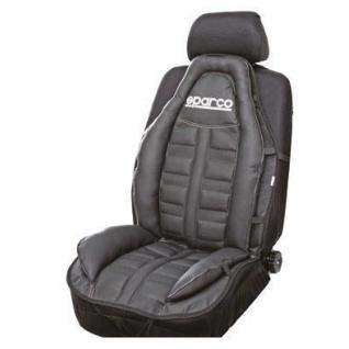 Накидка на сиденье анатомическая SPARCO Urban Style SPC/CUS-010 BK (спорт. дизайн, экокожа, чёрная) Sparco