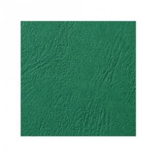 Обложки для переплета картонные GBC т-зеленые кожа, А4, 250г/м2,100шт/уп.