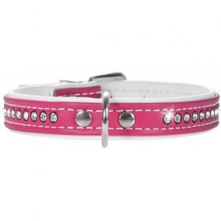 Hunter Hunter Smart ошейник для собак Modern Art Luxus 37/13 (28-33,5 см) кожзам 1 ряд страз ярко-розовый