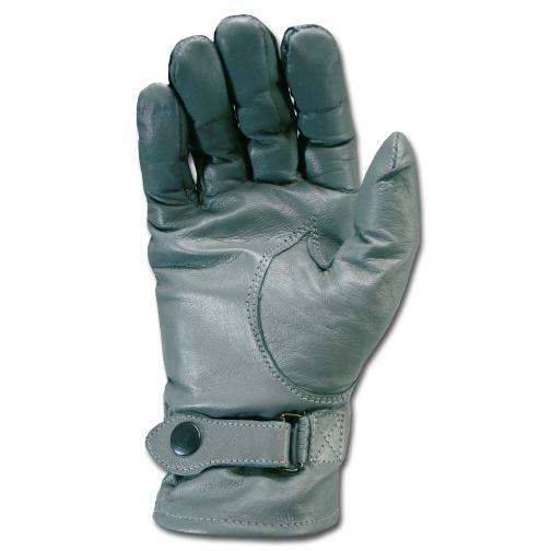 Made in Germany Перчатки кожаные в стиле Бундесвера серого цвета 5026165 1
