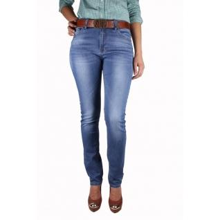Женские джинсы с ремнём MossMore MR-1020BH-393
