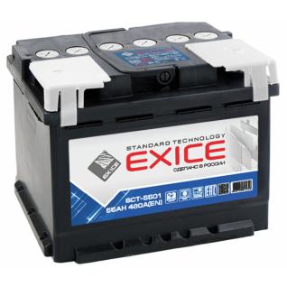 Аккумулятор EXICE STANDARD 6CT- 55NR 55 Ач (A/h) обратная полярность - ES 5501 EXICE (ЭКСИС) 6CT- 55NR