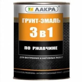 Грунт-эмаль по ржавчине 3в1 Лакра черная /1,7 кг/