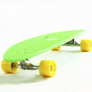 Скейт борд 4-колёсный Hubster Cruiser 36 зелёный с жёлтыми колесами