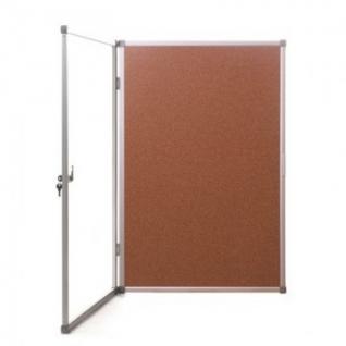 Витрина Доска-витрина пробковая 60х90 см (алюминиевая рама)