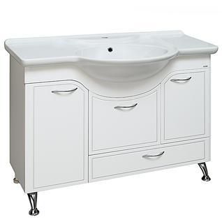 Тумба для ванной Runo Севилья 105 без Раковины (Дрея 105) Белая с Корзиной для белья