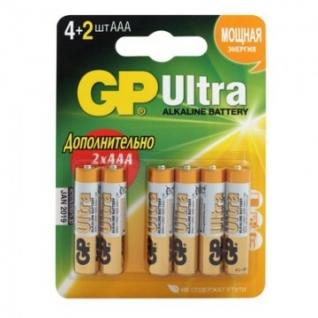 Батарейки GP Ultra AAА GPPCA24AU019 алкалин. бл/6шт