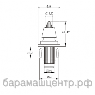Резец А-34WL-18F