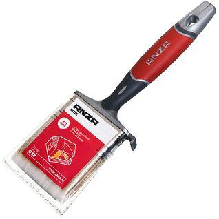 АНЗА кисть плоская 70мм искусственная щетина прорезиненная ручка / ANZA Elite 150470 кисть флейцевая 70мм искусственная щетина прорезиненная ручка Анза