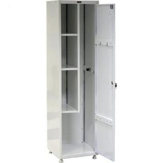 Метал.Мебель ПРАКТИК LS-11-50 шкаф хоз. серый 1 дв. 500х500х183