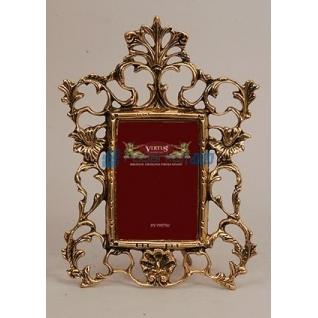 """Фоторамка из бронзы """"Империя"""" малая, цвет золотой (размер фото 9х13)"""