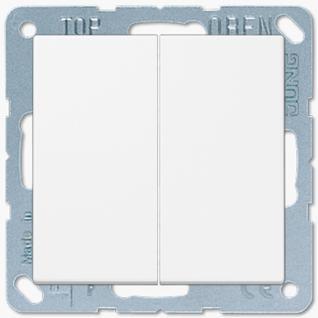 Выключатель Jung LS серия (505U-LS995WW) двухклавишный 10А белый пластик