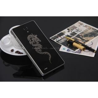 Xiaomi Redmi Note накладка - задняя панель с рисунком (паутинка)