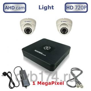 Готовый комплект из 2 внутренних видеокамер высокого качества HD 720P/1 ...