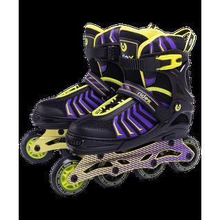 Ролики раздвижные Ridex Thanos Lime, алюминиевая рама размер 31-34