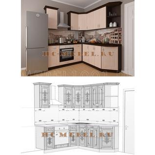 Кухня БЕЛАРУСЬ-8.5 модульная угловая, правая, левая