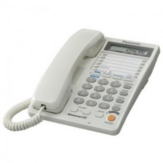 Телефон Panasonic KX-TS2368RUW белый,2-х линейный,ЖК дисплей