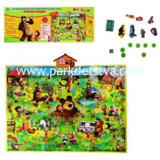 Плакат Маша и Медведь интерактивный обучающий Умка