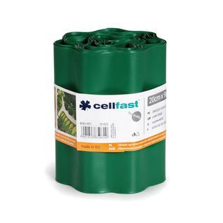 Обрамления огородно-газонные CELLFAST 20см x 9м темно-зеленый