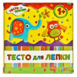 Тесто Для Лепки, 4цв. 180Гр (Красный, Синий, Желтый, Зеленый)