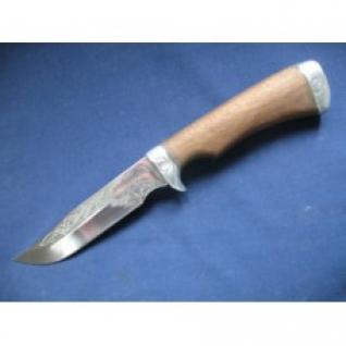 Нож - Турист-3СТ-3Дамаская стальМатериал рукоятиОрех + дюраль