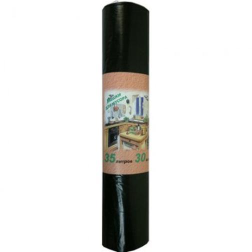 Мешки для мусора ПВД 35л 50x64см 20мкм черные 30шт/рул 37857904 1