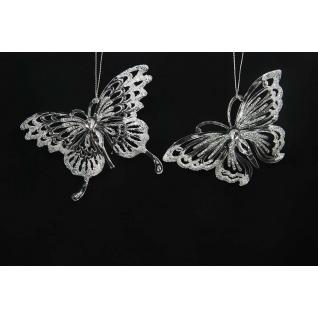 Украшение Бабочка, цвет серебро, акрил, ассортимент