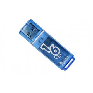 Память USB 2.0 16 GB Smartbuy Glossy series Blue, синий (SB16GBGS-B)