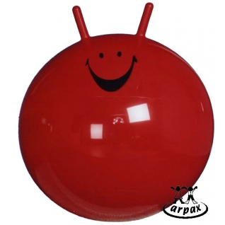 Мяч-прыгун , диаметр 55см, красный с рис.