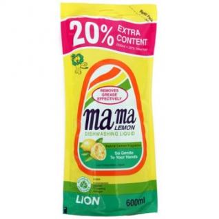 Средство для мытья посуды конц. гель Mama Lemon 600 мл(лимон)