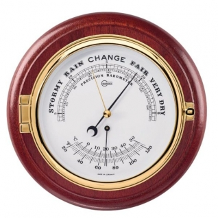 Barigo Барометр/термометр судовой Barigo 1586.2MS красное дерево