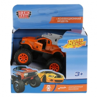 "Тм Технопарк. Машина Металл ""Джип Road Racing"", Длина 8см, Откр Двери, Инерц, В Ассорт."