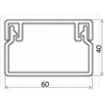 Кабель-канал 60х40 Т-Пласт, белый (1шт-2м)