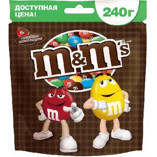 Конфеты Драже M&M`s шоколад 240г
