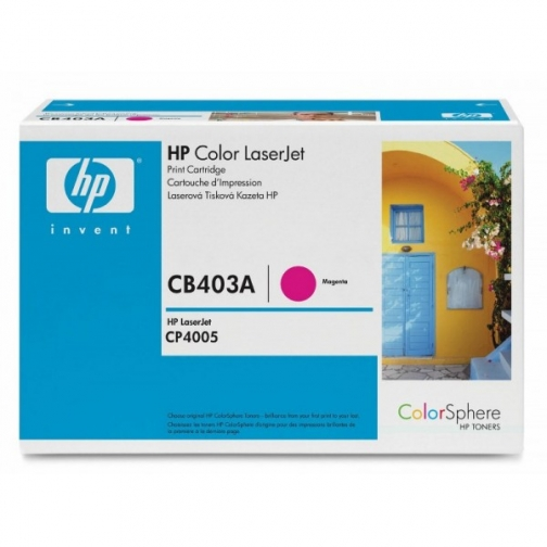 Оригинальный картридж HP CB403A для HP Сolor LJ CP4005, пурпурный, 7500 стр. 837-01 Hewlett-Packard 852498 1