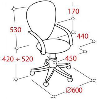 Кресло UP_Энтер ткань черная TW 11/сетка черная