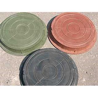 Люк канализ. полимерный 6 кН круглый малый зеленый (460х60мм)