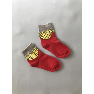 3939 носки детские картофель фри красный Роза (12-18) (16)