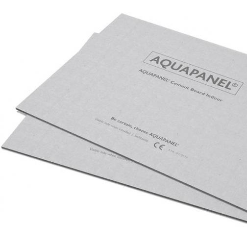 КНАУФ Аквапанель внутренняя влагостойкая 2400х1200х12,5мм (2,88м2) / KNAUF Aquapanel Indoor цементная плита внутренняя 2400х1200х12,5мм (2,88 кв.м.) Кнауф 36984010
