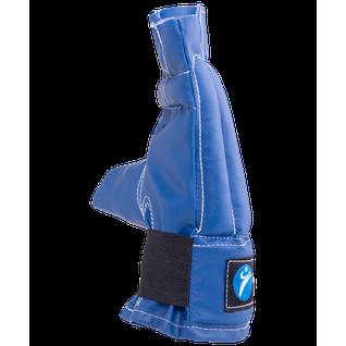 Перчатки снарядные, шингарды, кожзам, синий Rusco размер M