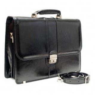Портфель Grand натуральная кожа черный 01-063-0713