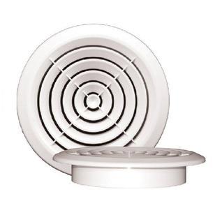 Диффузор круглый 170 с фланцем 125мм белый. Серия ДФ Виенто